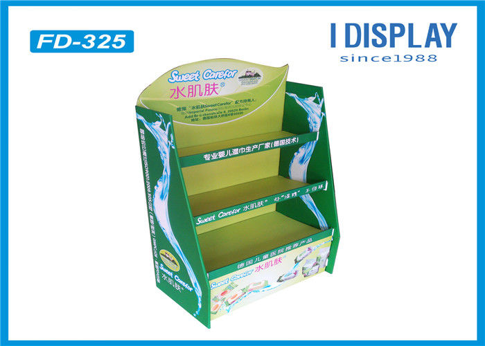 Eco - Friendly Cardboard Pallet Retail Display Stands Single Sided For Baby Diapers