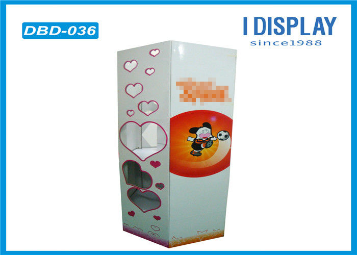 Football Corrugated Cardboard Bins , Paper Dump Bins For Retail