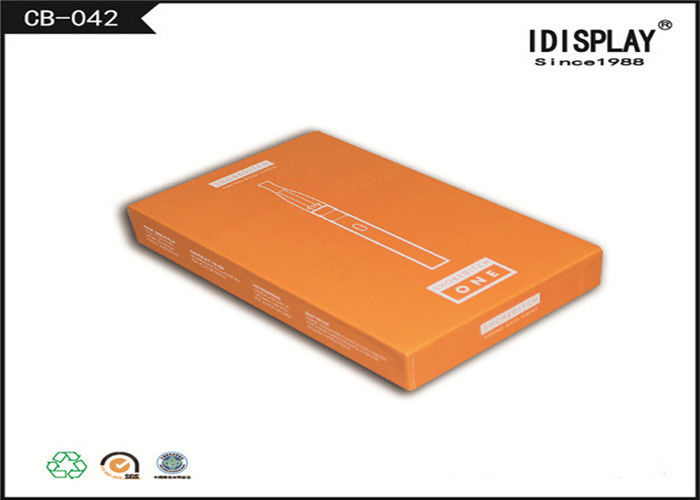 Orange Pen Cardboard Gift Boxes Offset Printing , Retail Gift Boxes With Lids