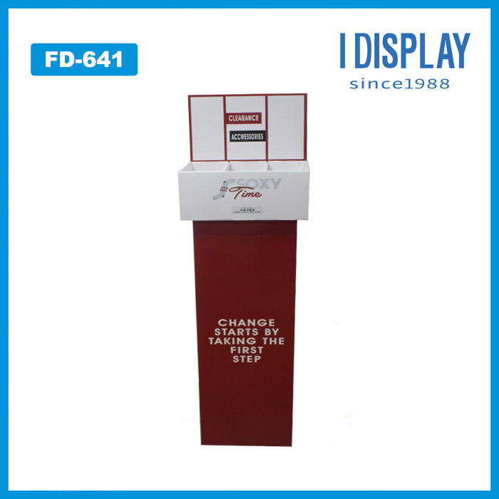 OEM Order Retail Store paper display stand For Battery With Customized Logo