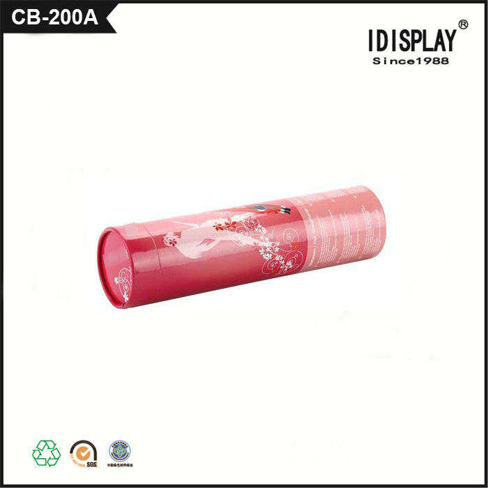 Retail Cardboard Cylinder Gift Boxes For Pen / Crayon Packaging Paper Cylinder Containers
